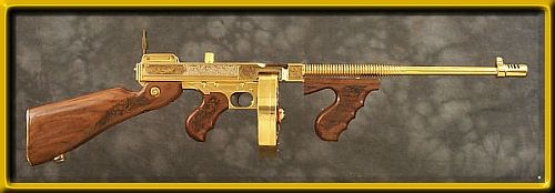 """The Dragonslayer"" ... gold tommygun"