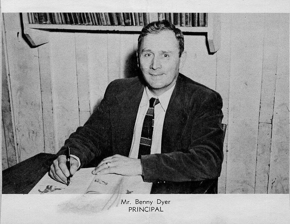 1955 Benny Dyer Principal Of Hindman Grade School Appalachia History Grade School