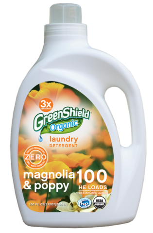 100 Oz Laundry Detergent Magnolia Poppy Greenshield Organic