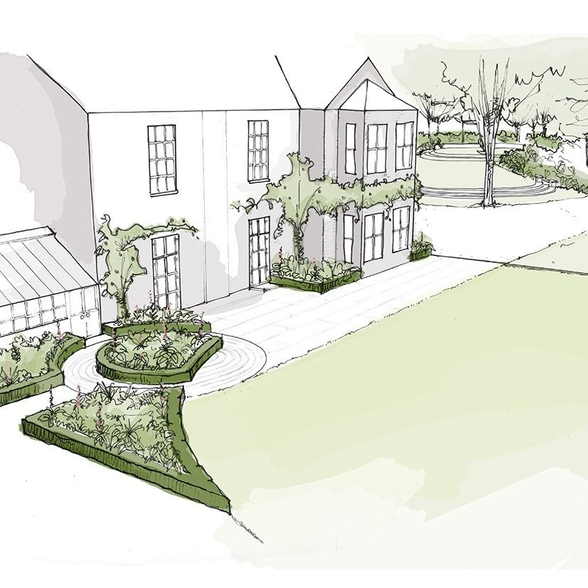 Country House Cambridgeshire By Thomas Hoblyn Suffolk Garden Design.  Landscape Drawings3d ...