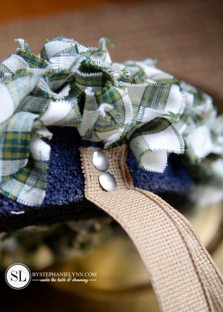 Photo of Plaid Rag Wreath Make It Fun Foam