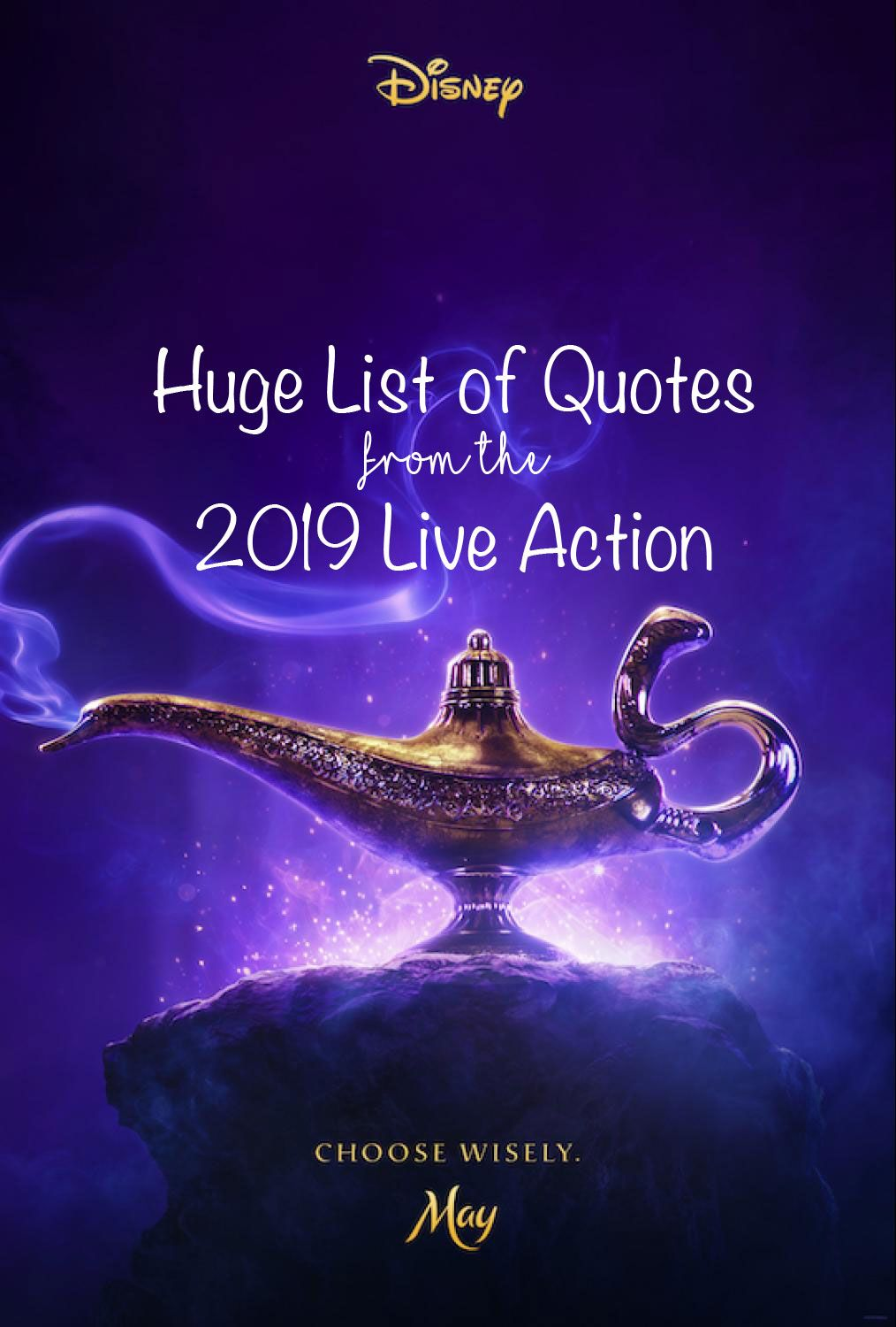 Aladdin Quotes The New Live Action Quotes List Aladdin Quotes
