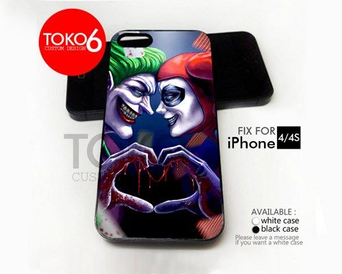 AJ 3944 Joker and Harley Love - iPhone 4/4s Case | toko6 - Accessories on ArtFire