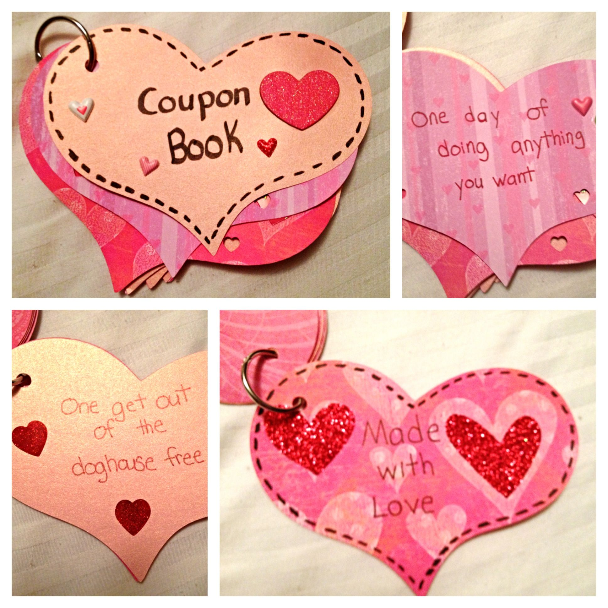 Scrapbook gift ideas for boyfriend - I Made This Coupon Book For My Boyfriend Boyfriend Ideasmy Boyfriendtutorial Scrapbookcoupon Booksvalentine Giftsvalentines