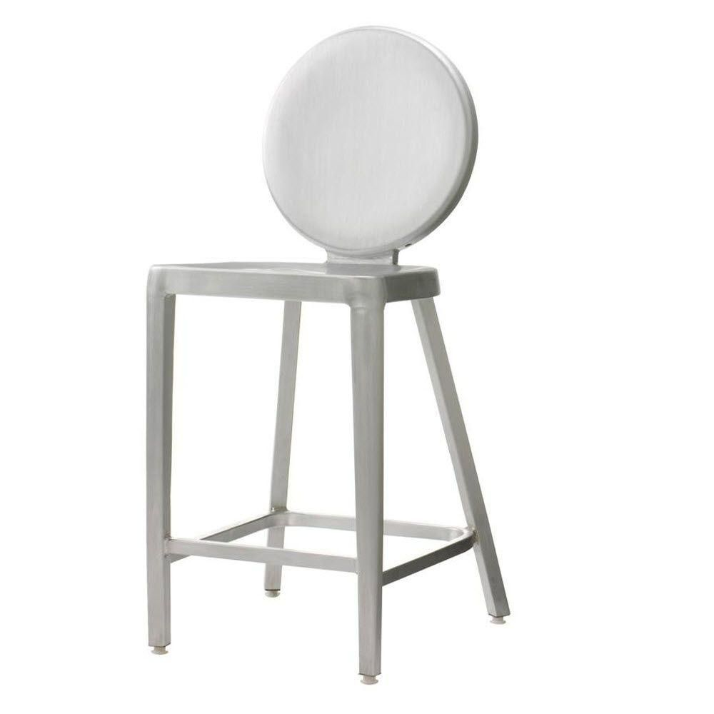 Samantha 24 in. Brushed Aluminum Bar Stool | Aluminum bar stools ...