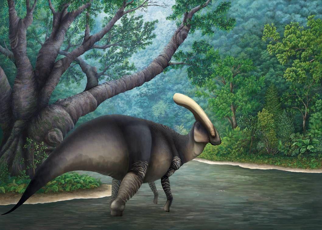 Parasaurolophus walkeri at riverbend by PrehistoryByLiam on DeviantArt