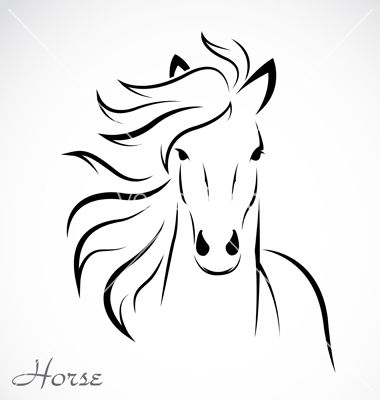 Abstract horse outline horse vector horses pinterest horse abstract horse outline horse vector ccuart Images