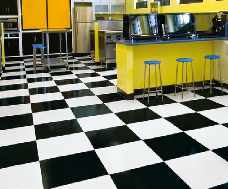 Black And White Pvc Flooring For Commercial And Residential Feature Tiles Flooring Armstrong Flooring
