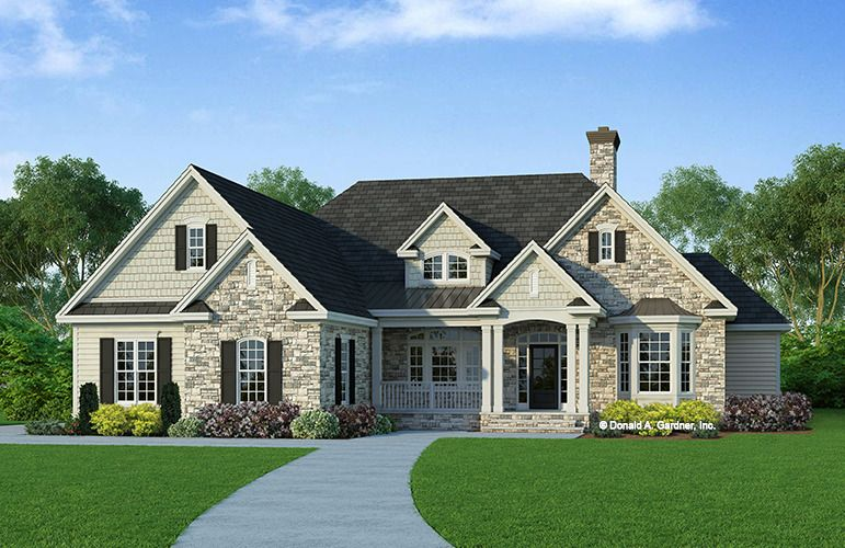 House Plan The Nottingham By Donald A Gardner Architects Ranch Style House Plans Country Style House Plans Ranch Style Homes