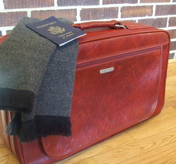 vintage rugged samsonite suitcase by monkandrowe on Etsy, $25.00
