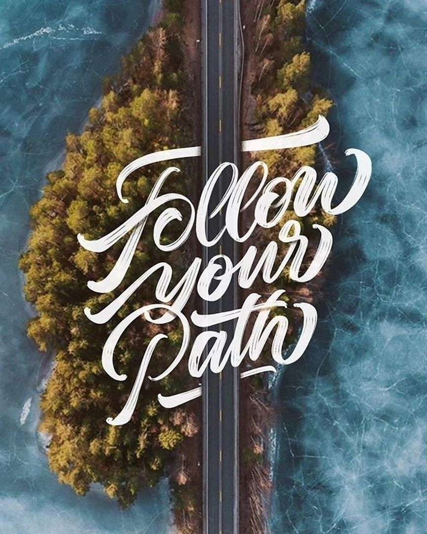 follow your #path - sometimes it is not easy but the result is overwhelming. Be yourself. You are amazing. Thank you @typebychris - your works are a source of #inspiration #handmadefont