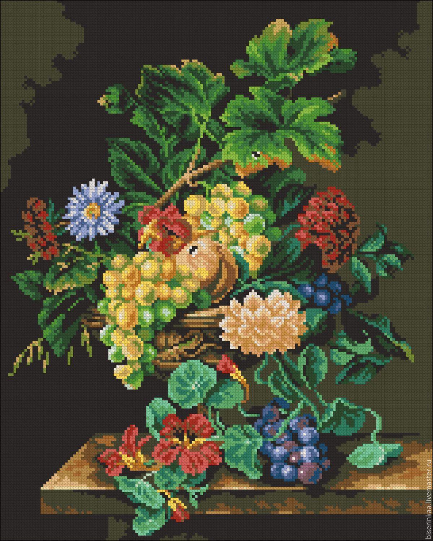 Вышивка крестом схемы бесплатно натюрморты фрукты
