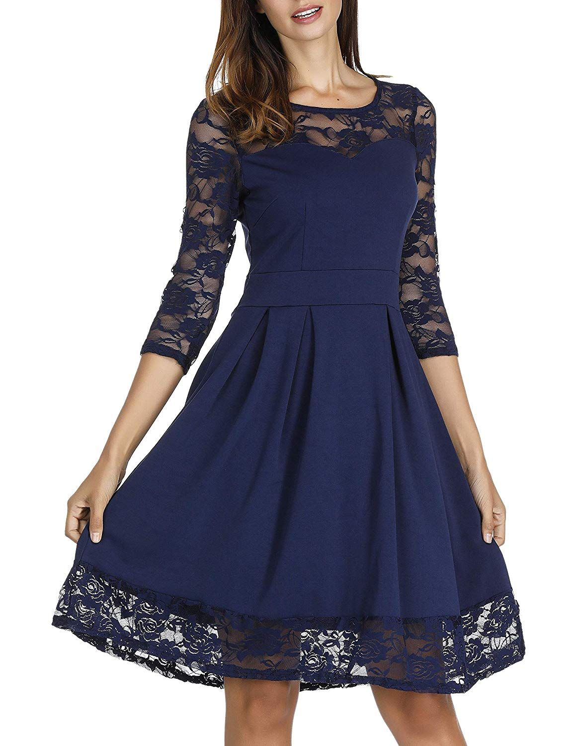 Akivide Women S Sleeveless 3 4 Sleeve Cocktail Lace Wedding Guest Dresses More Information Wedding Guest Dress Lace Wedding Guest Dress Cheap Wedding Dress [ 1500 x 1165 Pixel ]