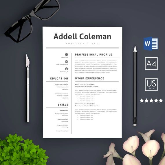 Resume Template, Microsoft Word | Resume template, Manager ...