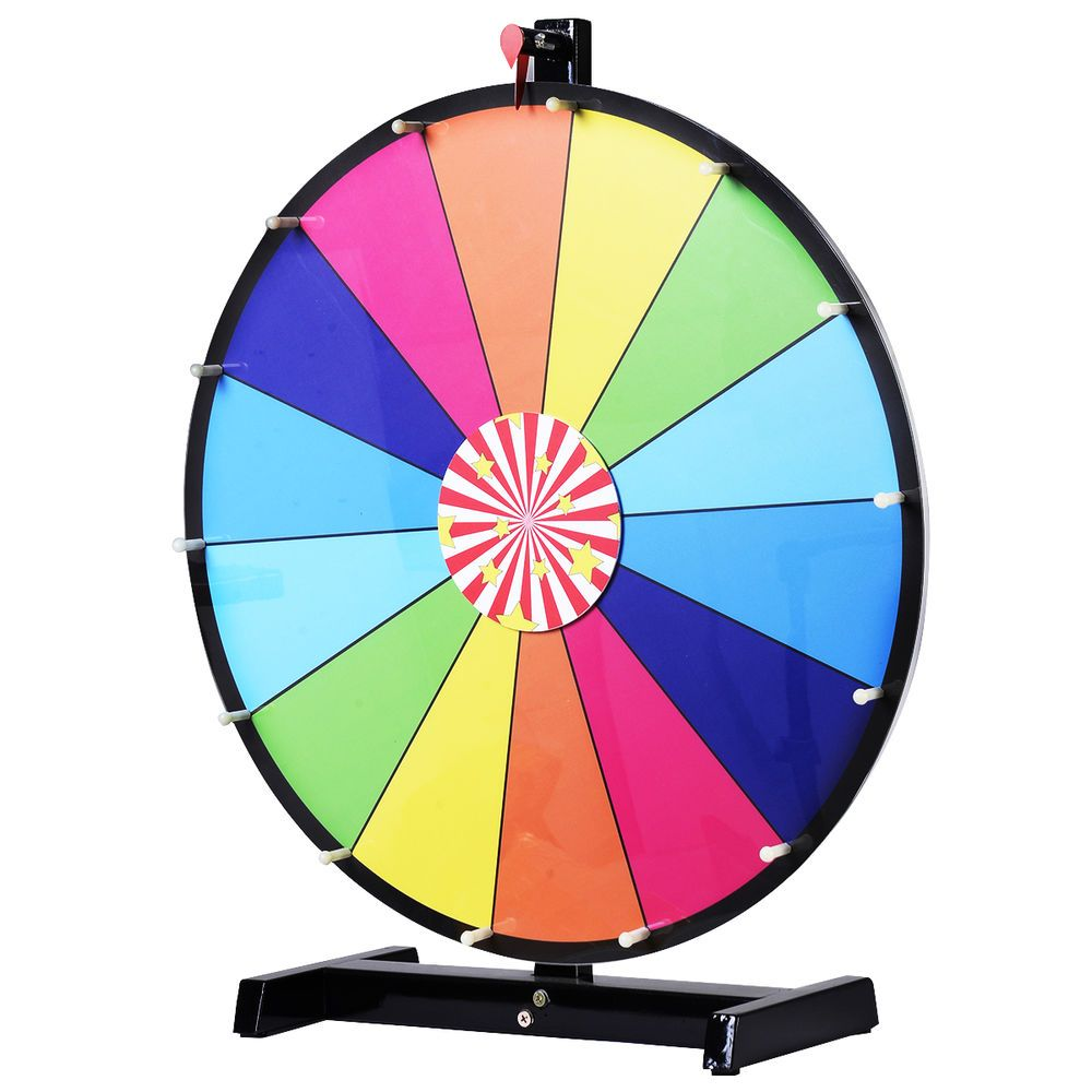 24 editable dry erase color prize wheel of fortune spinning game tradeshow new prize wheel. Black Bedroom Furniture Sets. Home Design Ideas