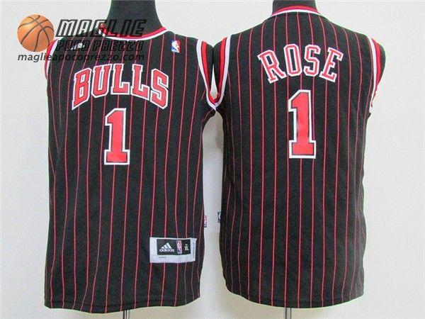 Canotte Nba Bambino Chicago Bulls Striscia Derrick Rose #1