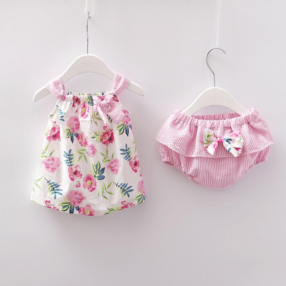 Baby Girls Summer Cotton Dress + Brief Set (6 types)  Playground