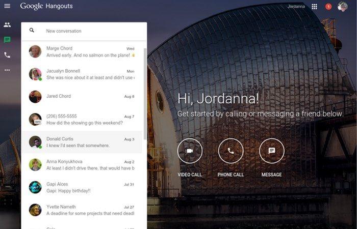 New Google Hangouts Website Launches