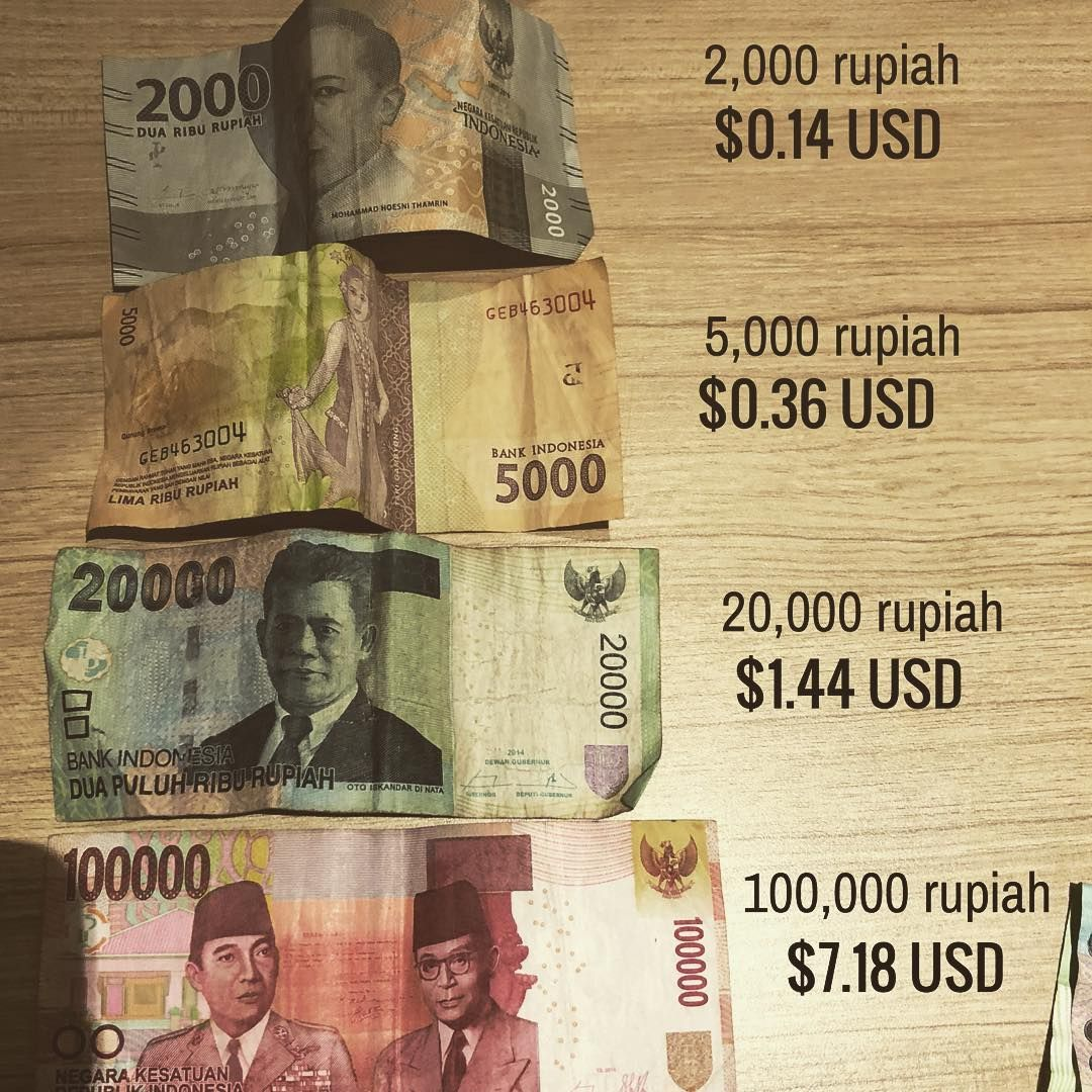 Took Out 1 Million Dollars In Rupiah