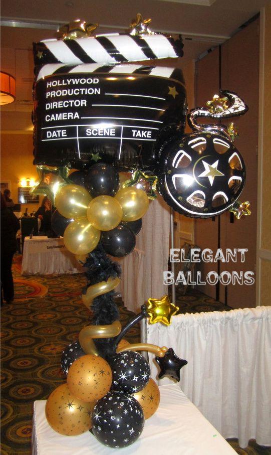 hollywood theme by www.elegant-balloons.com   Bar Mitzvah ...