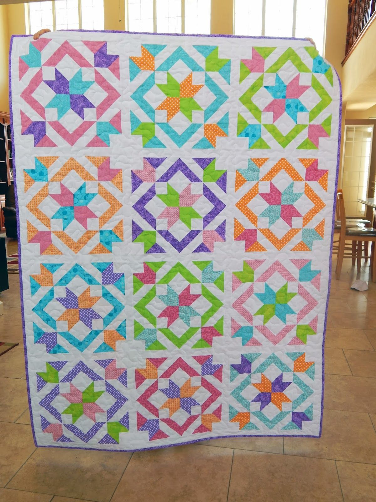 http://happyquiltingmelissa.blogspot.com/2014/04/star-light-star ... : bright colored quilt patterns - Adamdwight.com
