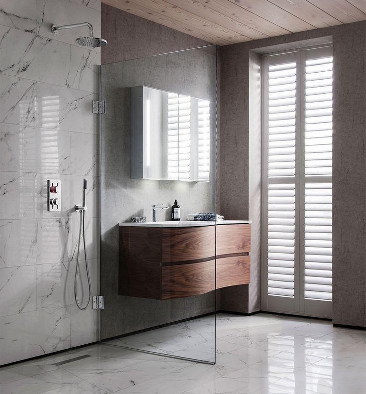 marmor im badezimmer modern inszenieren 40 ideen für ein