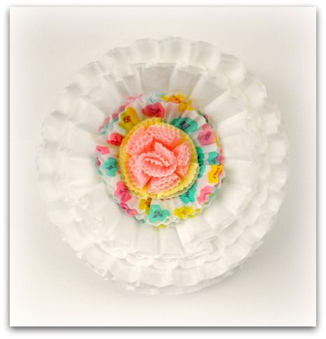Coffee Filtercupcake Liner Flower Heart Party Valentines