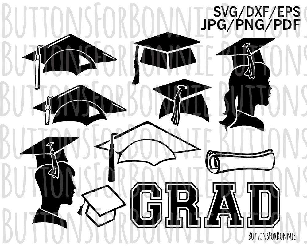 Graduation Clipart Graduate Svg Grad Silhouette Grad Cap Etsy Personal Cards Clip Art Svg