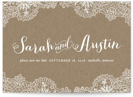 Rustic Charm Save the Date Postcards