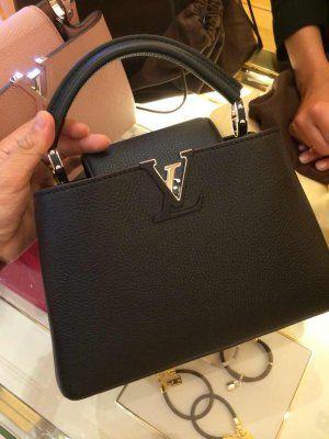 Authentic Louis Vuitton Capucines Mm Bag M94586 Black Bags