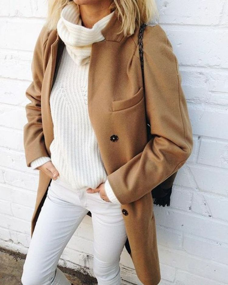 size 40 580be 7abdd Billig brauner wollmantel damen | Style | Wollmantel damen ...