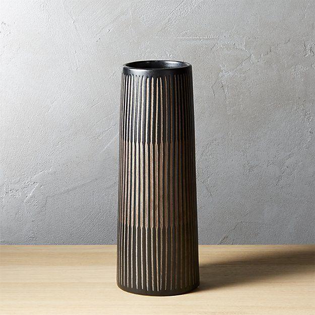 Rail Black Cylinder Vase 1185 Park Ave Pinterest Cylinder