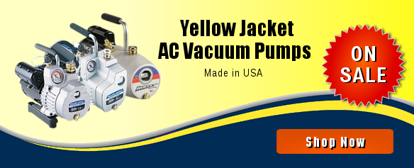 Yellow Jacket AC Vacuum Pumps. Made in USA. On Sale