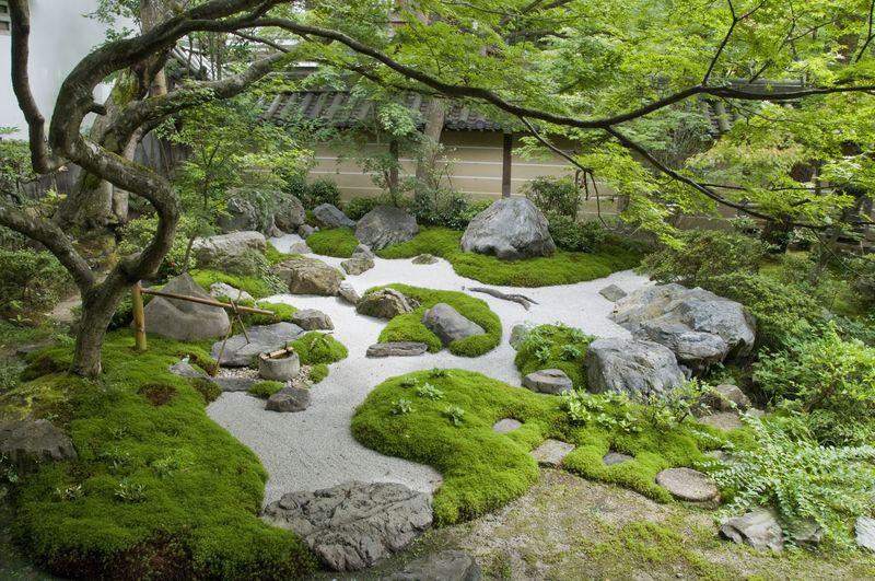 Dry garden, Kyoto Japanese garden, Modern japanese