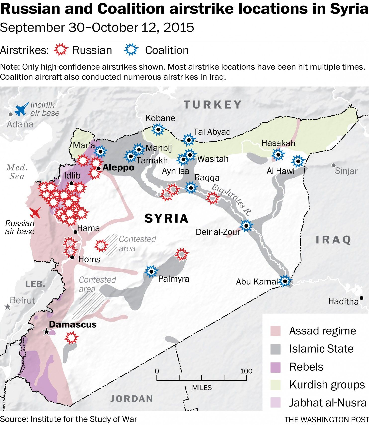 Russian Vs U S Airstrikes In Syria