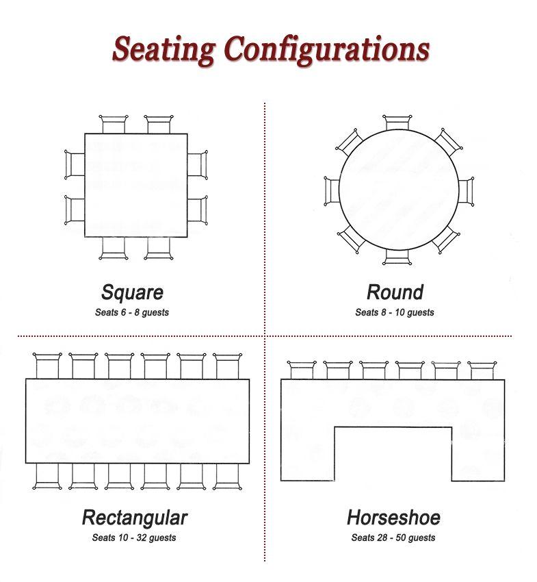 Wedding reception seating arrangement ideas