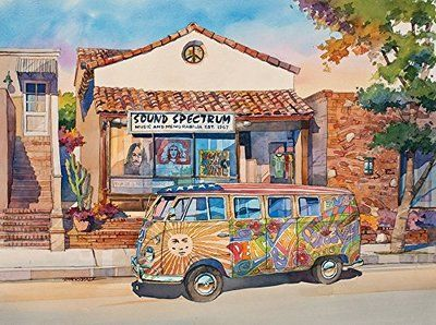 California Dreams: The Love Bus (1000 Piece Puzzle by LPF)