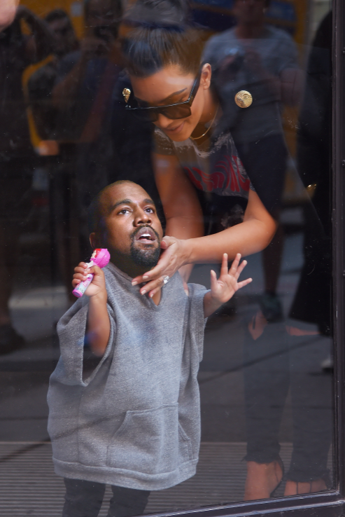 Someone Photoshopped Kanye S Head Onto His Daughter S Body And It S The Best Thing You Ll See All Day Kanye West Funny Kanye Face Kanye Memes