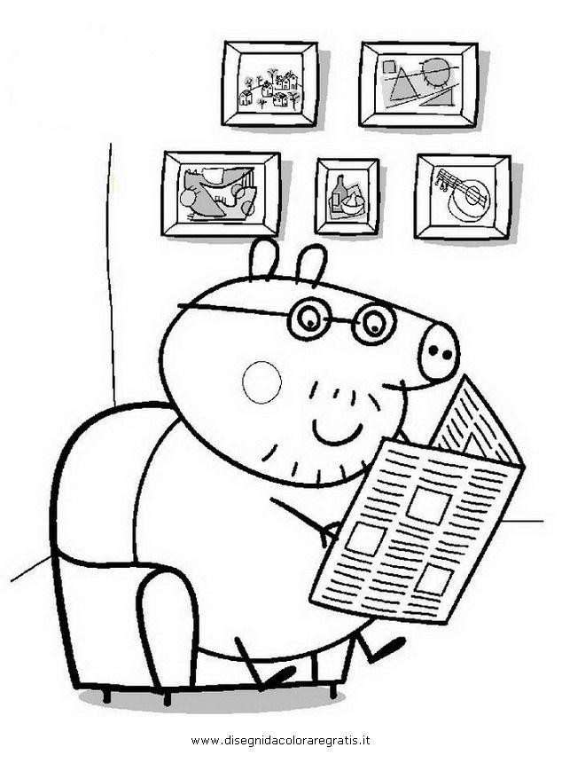 Guarda tutti i disegni da colorare di peppa pig a sk pinterest - Jeux de papa pig ...