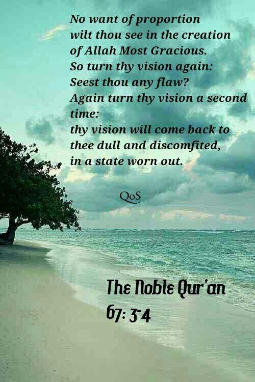 The Noble Quran Surah Al Mulk The Dominion 67 3 4