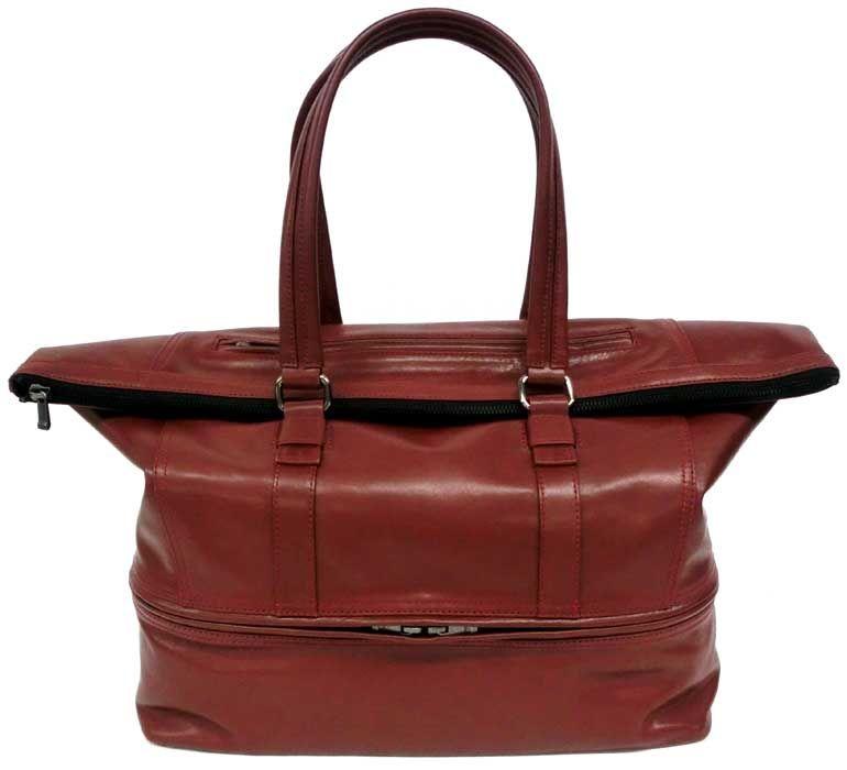 Zip Tote Bag Waterproofing Leather