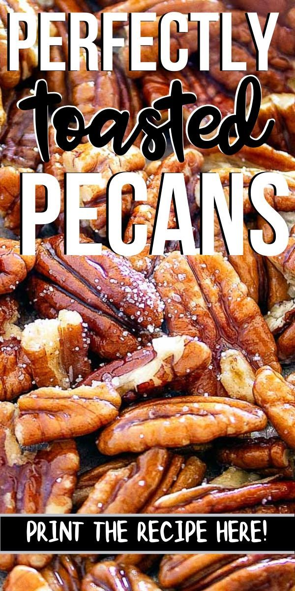 How to toast pecans perfectly!
