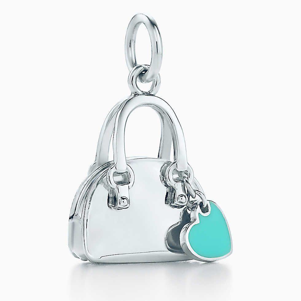 5827f3bb1e Handbag charm with Tiffany Blue® enamel finish in sterling silver. $250