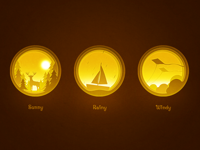 Dribbble Weather widget by Chuan² Animal icon, Icon