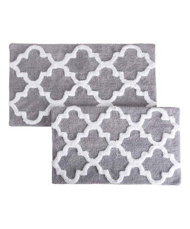 Look What I Found On Zulily Silver Trellis Bath Mat Set Of Two