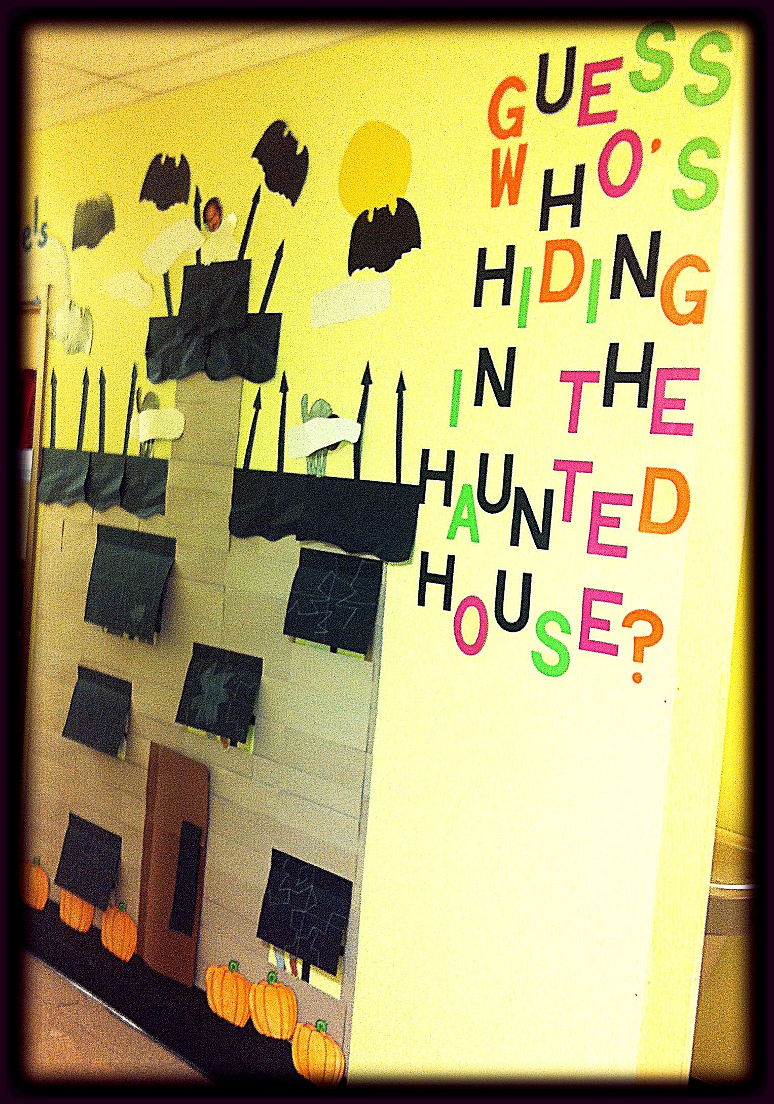 Halloween Bulletin Board Guess ' Hiding In
