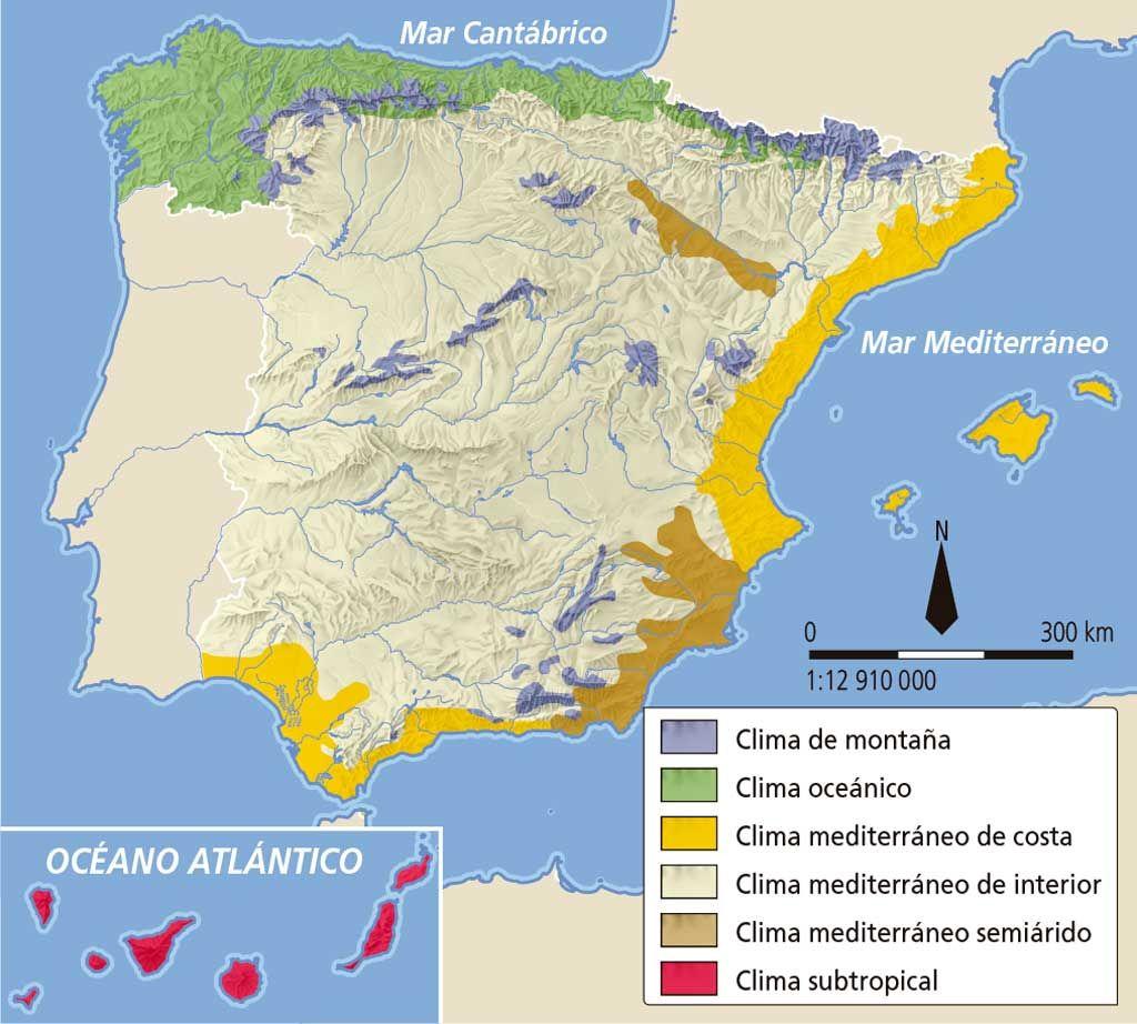 Resultado De Imagen De Mapa De Los Climas De Espana Con Imagenes