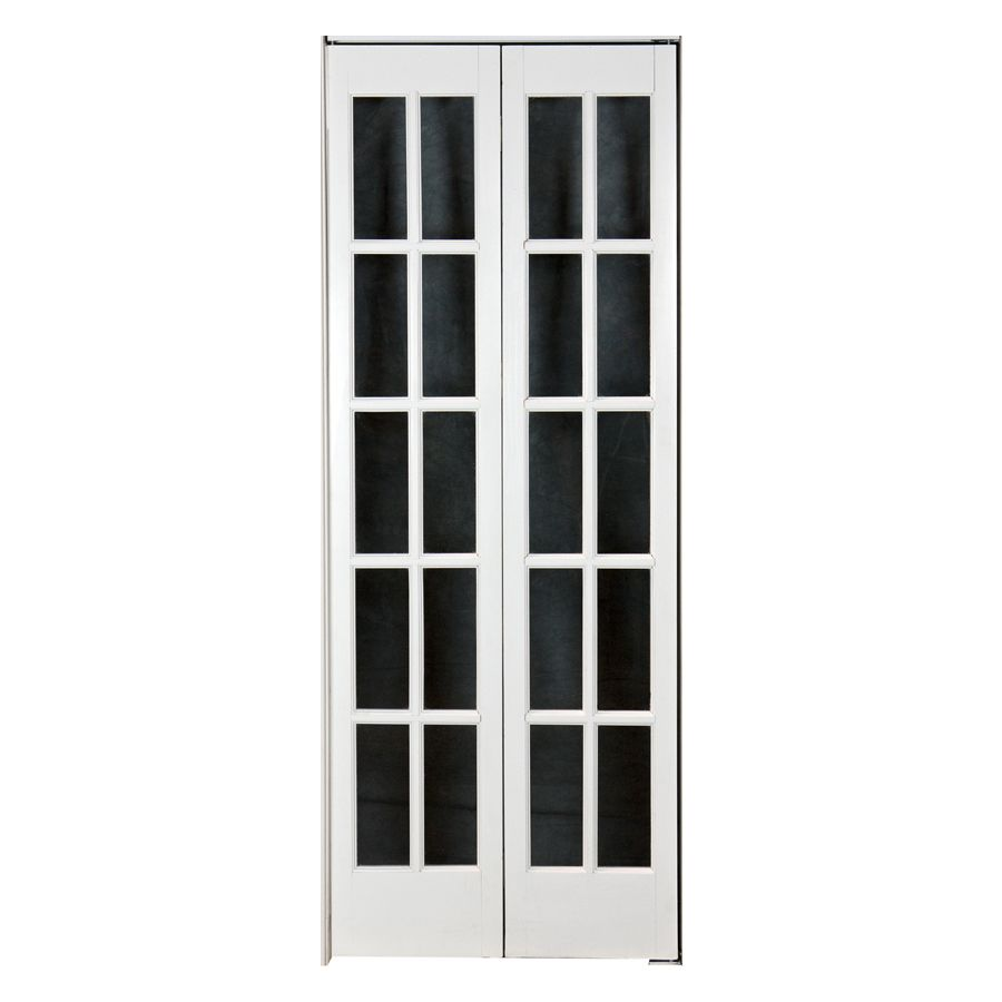 Shop Pinecroft 24 In X 6 Ft 8 1 2 In 10 Lite French Solid Core Pine Bifold Closet Door At Lowes Com French Doors Interior Bifold French Doors French Doors