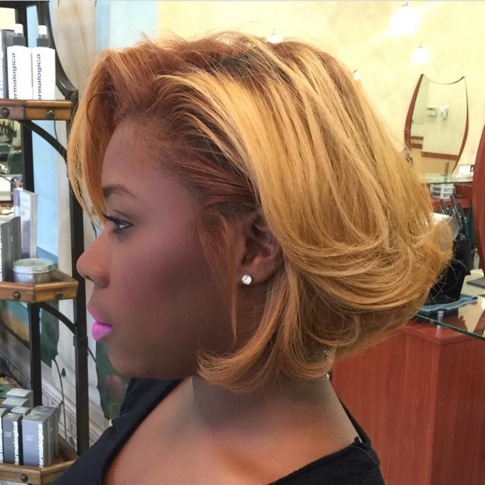 60 showiest bob haircuts for black women blonde bobs