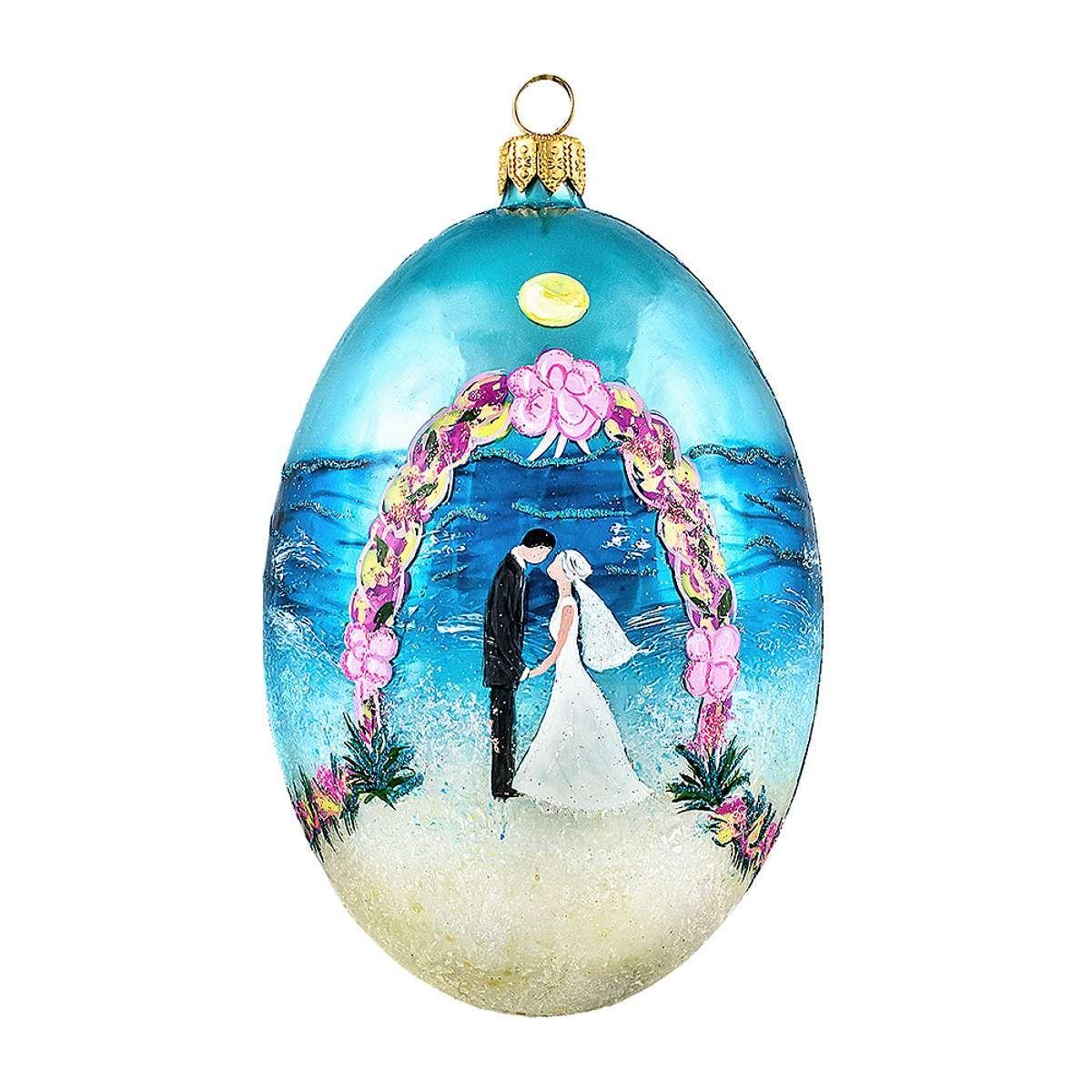 Coastal Egg Ornament